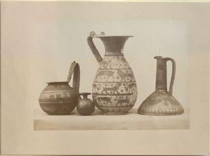 Photograph of four Greek Ceramics