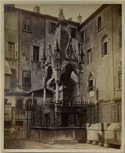 Photograph of the Tomb of Mastino II della Scala, Verona