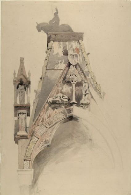 Study of the North Gable of the Tomb of Mastino II della Scala, Verona