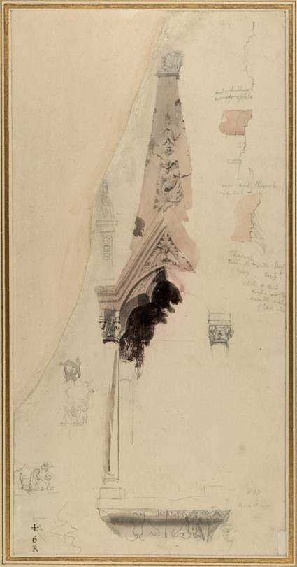 Study of one of the Pinnacles of the Tomb of Mastino II della Scala, Verona
