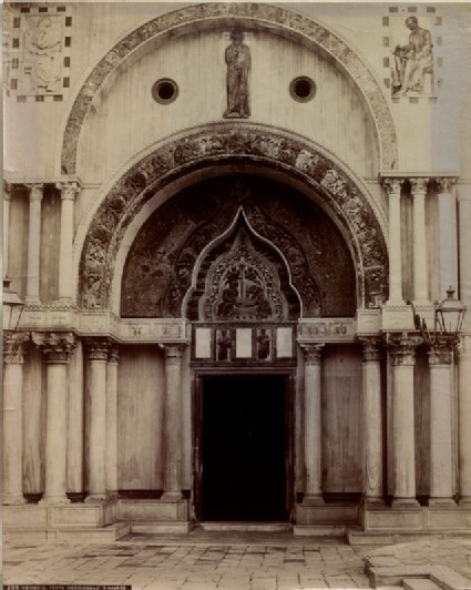 The Porta dei Fiori in Saint Mark's Basilica, Venice