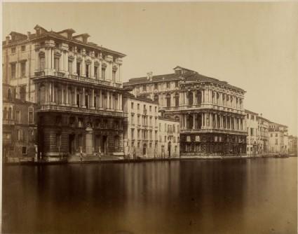 Photograph of the Palazzo Corner della Regina and the Palazzo Pesaro on the Grand Canal, Venice