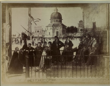 Photograph of the Centre of Carpaccio's 'Arrival of the English Ambassadors' from the 'Legend of Saint Ursula'
