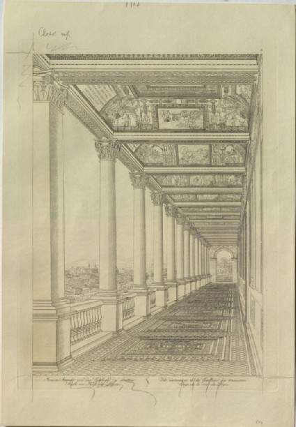 Engraving of the Third Loggia of the Vatican Palace