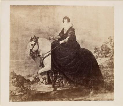 Photograph of Velázquez's 'Portrait of Isabel of Bourbon on Horseback'