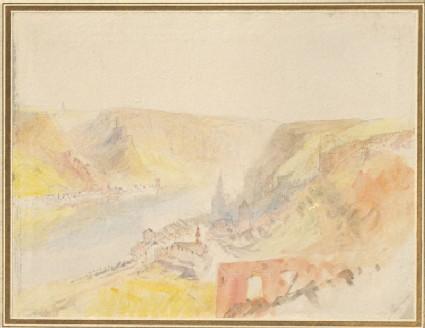 On the Rhine: looking over Sankt Goar to Katz, from Burg Rheinfels