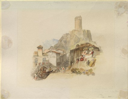Drawing of Turner's 'Martigny'