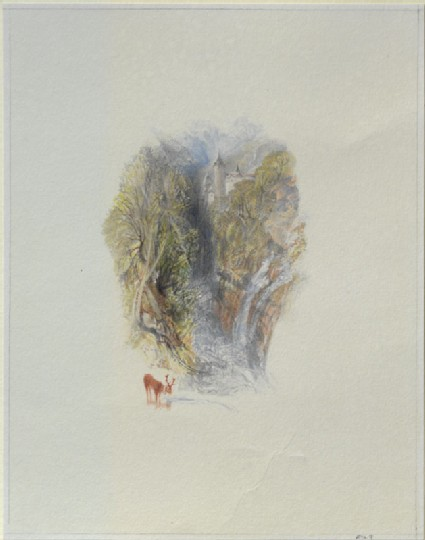 Drawing of Turner's 'Valombré'