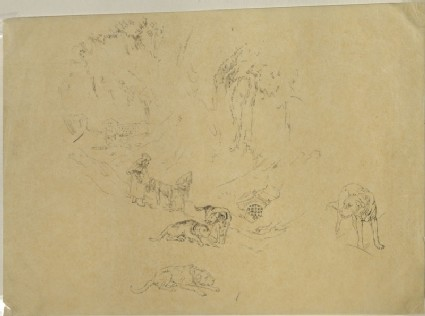 Tracing of Turner's 'Hospice of the Great Saint Bernard'