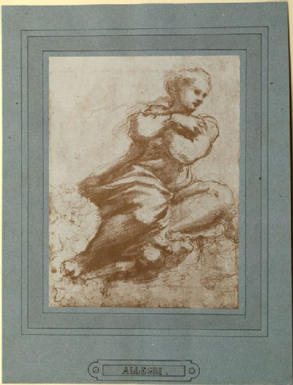 Photograph of Correggio's Study of 'The Virgin, turned towards the right, and Putti'