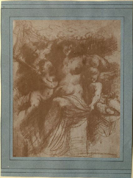 Photograph of a Study of Venus supported by three Cupids, by the School of Correggio