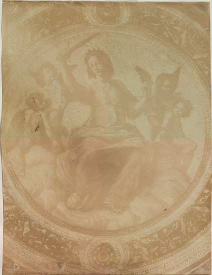 Photograph of Raphael's 'Justice' on the Ceiling of the Stanza della Segnatura