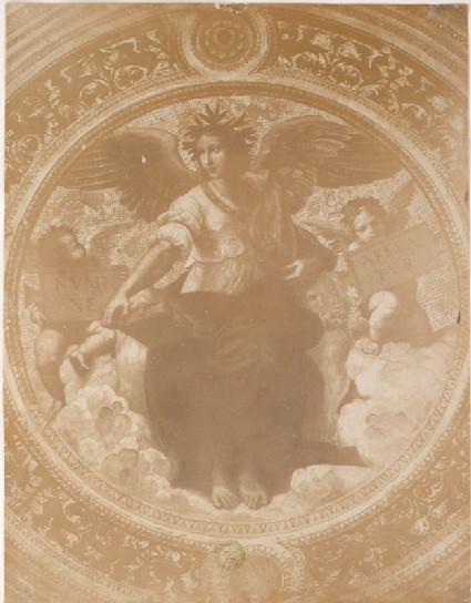 Photograph of Raphael's 'Poetry' on the Ceiling of the Stanza della Segnatura