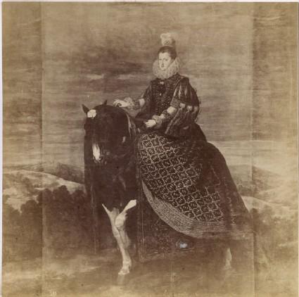 Photograph of Velázquez's 'Portrait of Donna Margarita of Austria on Horseback'