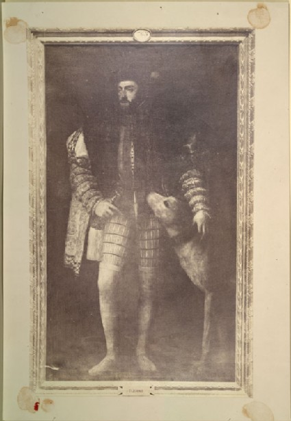 Photograph of Titian's 'Portrait of Charles V with a Hound'