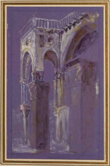 The Saint Jean d'Acre Pillars and the south-west Corner of Saint Mark's Basilica, Venice
