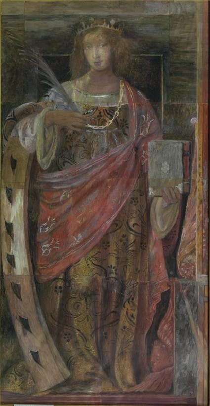 Drawing of Luini's fresco of 'Saint Catherine of Alexandria'