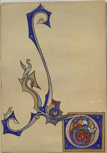 Drawing of an Illumination from the Psalter and Hours of Isabelle of France