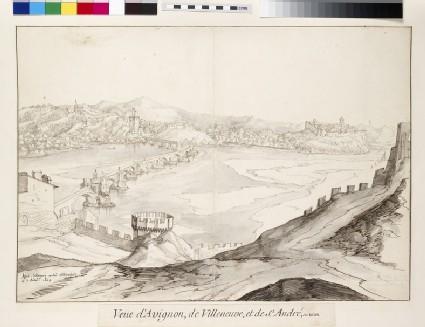 View of the Bridge at Avignon looking towards Villeneuve