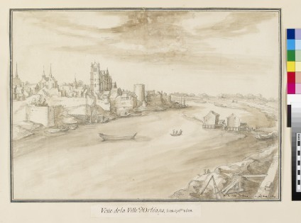 View of Orléans from across the south Bank of the Loire