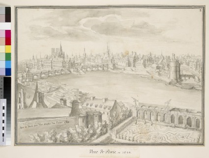 View of Paris from the Louvre, facing upstream towards the Ile Saint-Louis