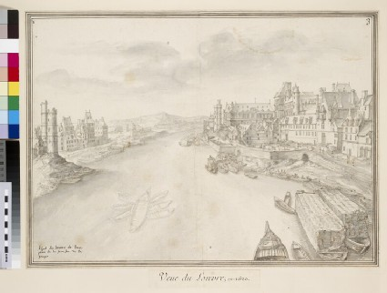 View of Paris, looking west along the River, with the Louvre on the right