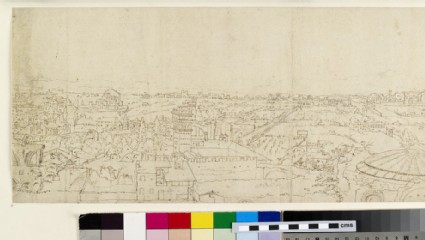 View of Rome from the Baths of Constantine, stretching from Santa Maria del Popolo to the Baths of Diocletian