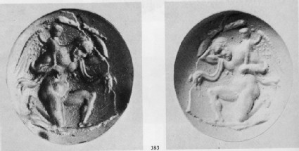Intaglio gem, Herakles with Eros