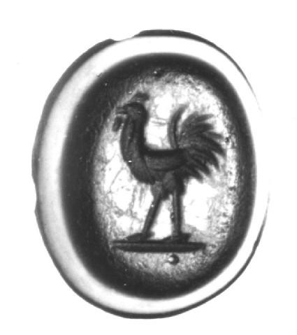 Intaglio gem, cockerel