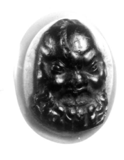 Intaglio gem, Satyr mask