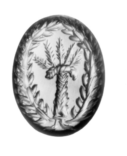 Intaglio gem, palm tree