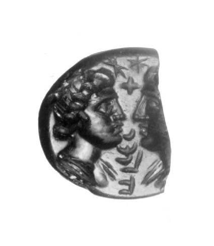 Intaglio gem, male and female head