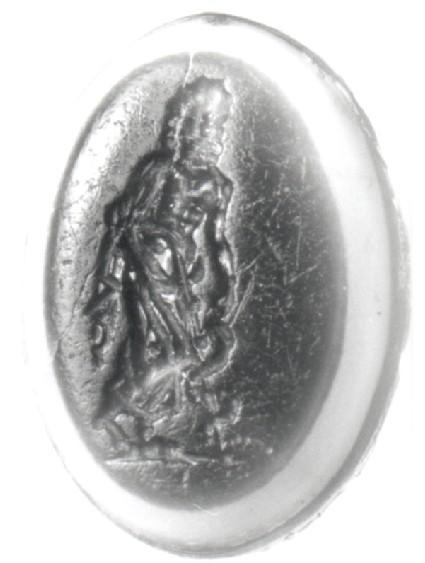 Intaglio gem, Asklepios