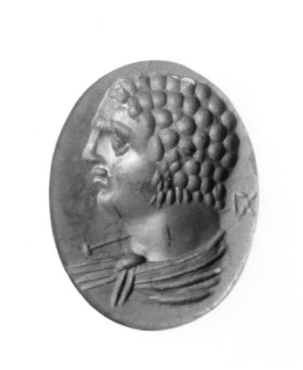 Intaglio gem depicting Emperor Caracalla as Hermes