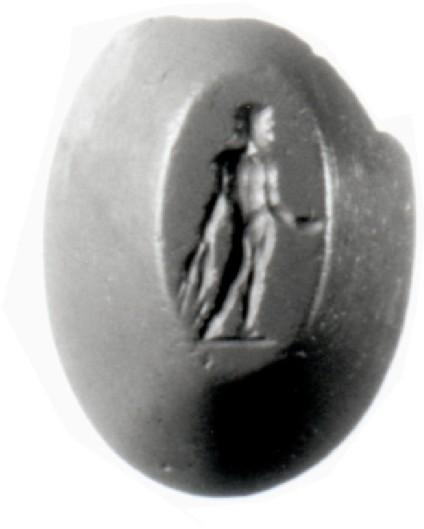 Intaglio gem, Aphrodite and Triptolemos