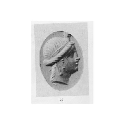 Ringstone, head of a Ptolemaic queen wearing a diadem, Cleopatra