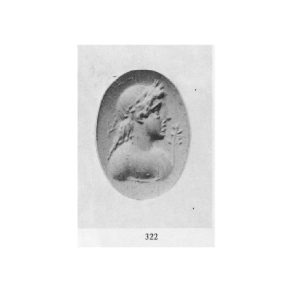 Ringstone, bust of Apollo