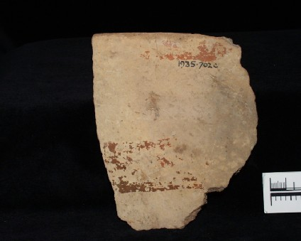 Red-on-White potsherd