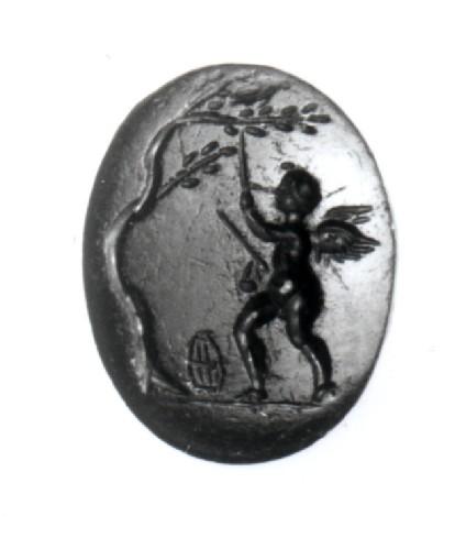 Intaglio gem, Eros as bird-catcher
