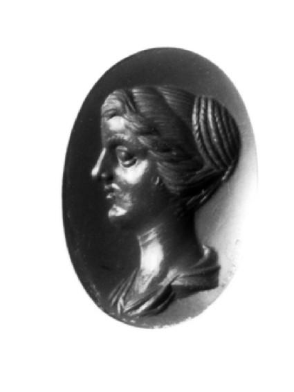 Intaglio gem, portrait of Crispina Augusta