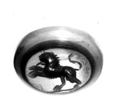 Intaglio gem, lion