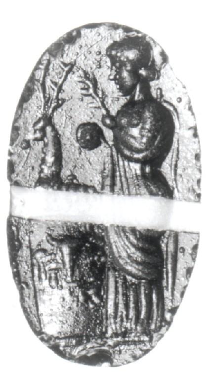 Intaglio gem, Iphigeneia, priestess of Artemis