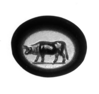 Intaglio gem, bull