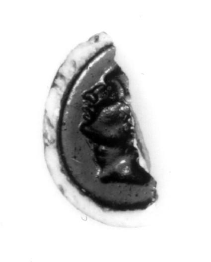 Intaglio gem, head of Octavian