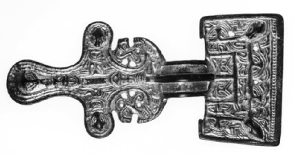 Large square-headed brooch