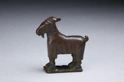 Bronze goat figurine