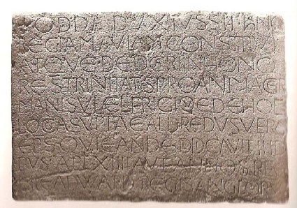 Stone (The Odda Stone), Latin inscription