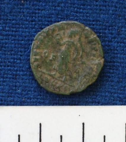 AE minimus coin of Emperor Valentinianus II