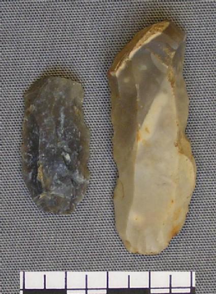 Two flint blades