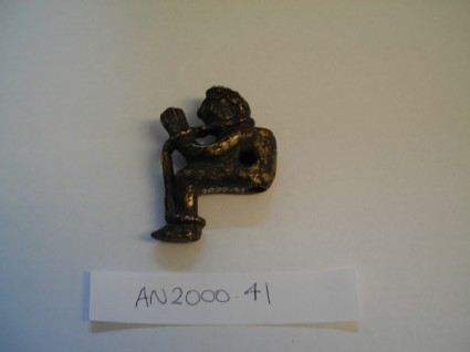 Bronze figure in the form of a bound captive